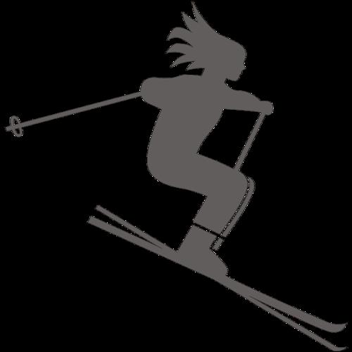 运动双板滑雪人物