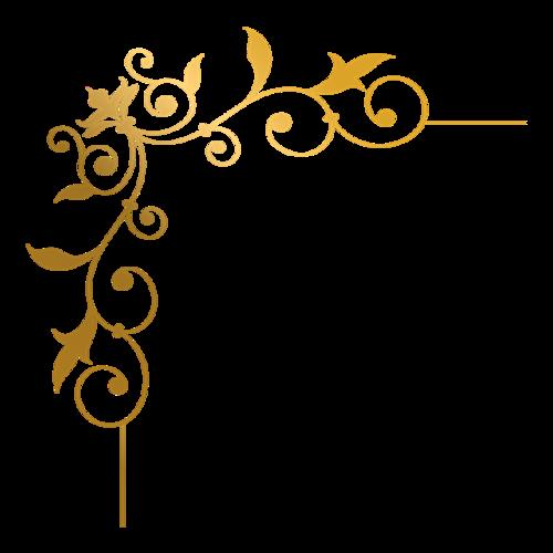 金色花纹边框装饰