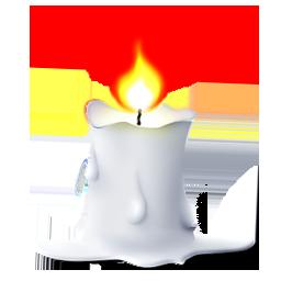 白色燃烧蜡烛图标