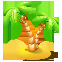椰子树卡通图片