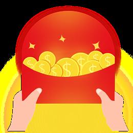 理财红包金币漂浮元素