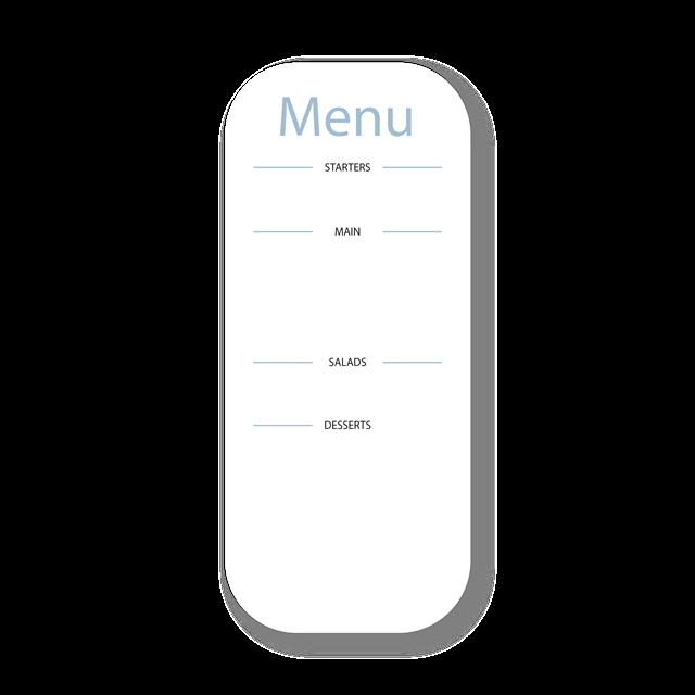 简约菜单矢量图模板