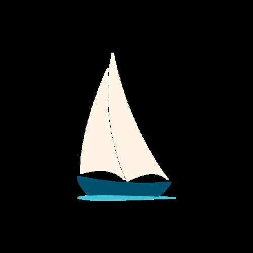小帆船卡通图片