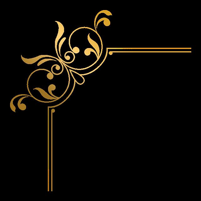 金色复古花纹边框图案