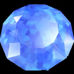 蓝色水晶宝石