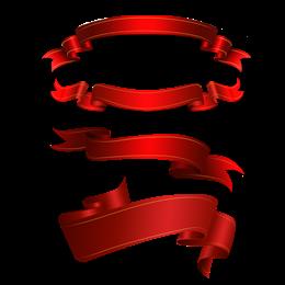 红色丝带横幅