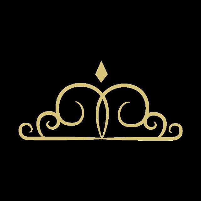 金色花纹皇冠图案