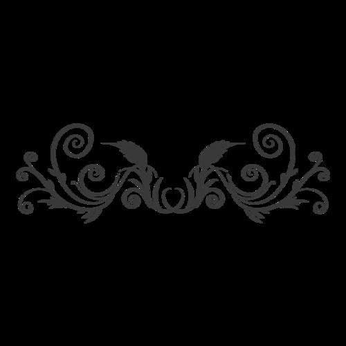 精美黑色花纹
