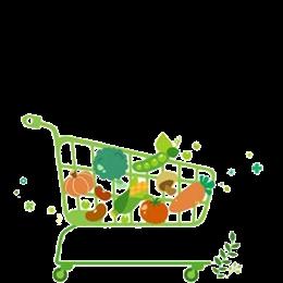 蔬菜购物车卡通图片