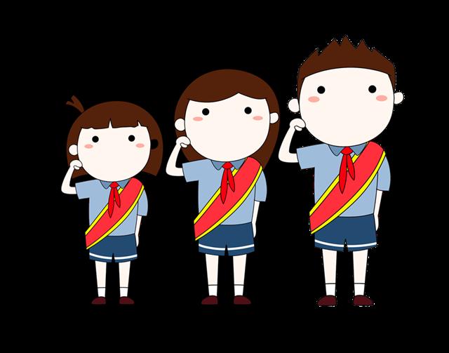 小学生升国旗行注目礼图片