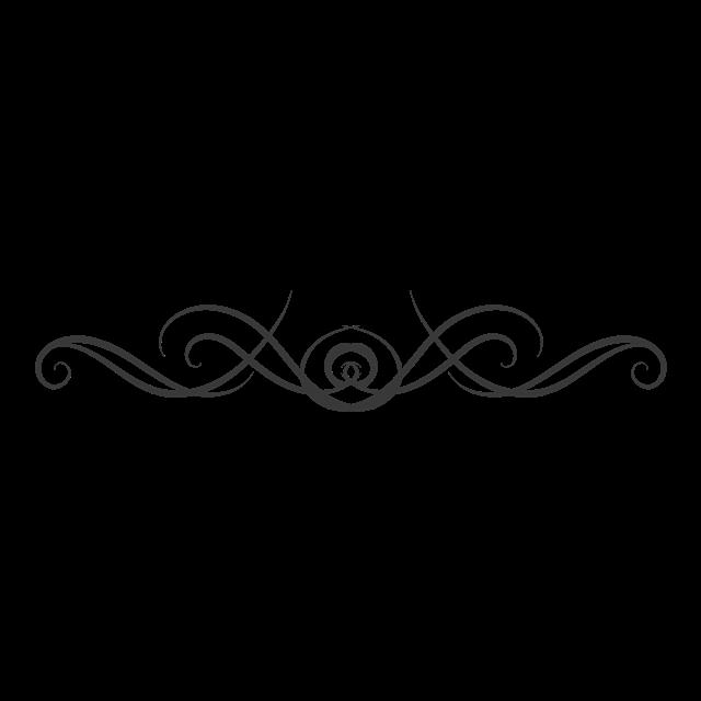 黑色线条花纹图案