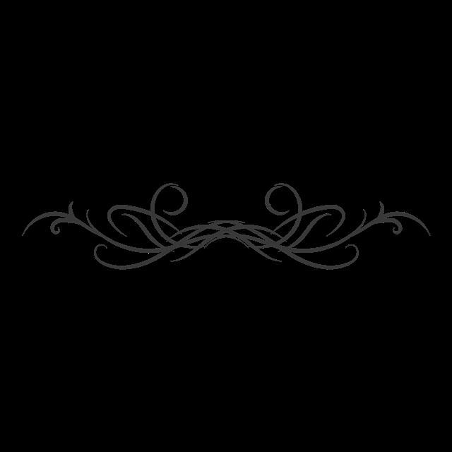 黑色线条花纹边框素材