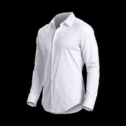 男士长袖白衬衫免抠图