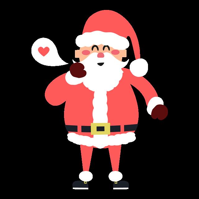 扁平风可爱圣诞老人