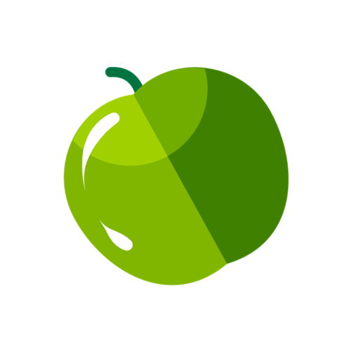 绿苹果卡通水果图片