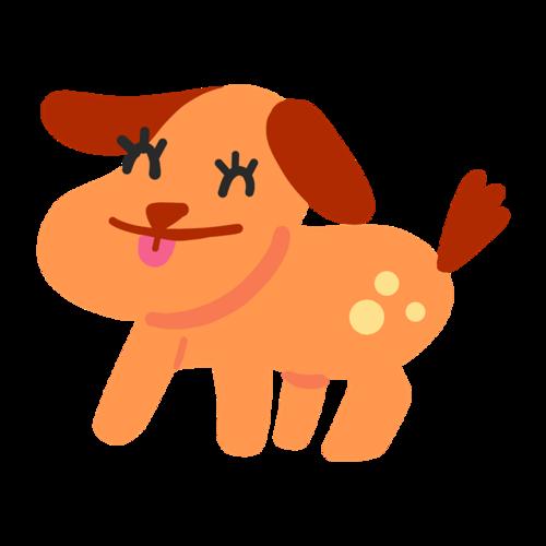 手绘卡通狗狗图片