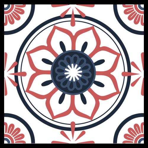 圆形中国风花纹图案