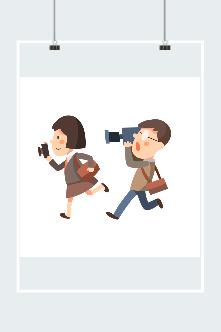 新闻记者插画
