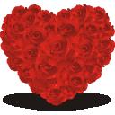红玫瑰爱心造型图片