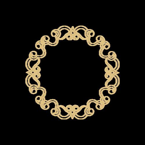 圆形边框花纹