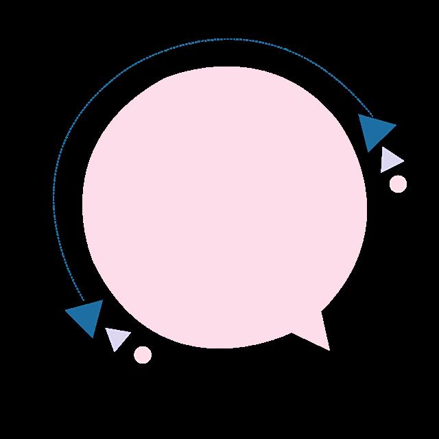 对话气泡促销标签圆形边框