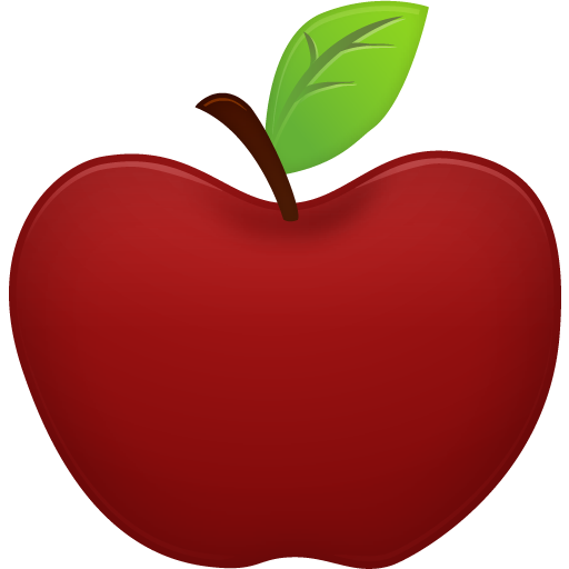 红苹果卡通图片