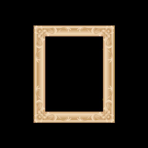 金色边框免抠素材