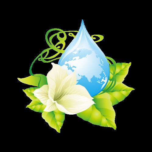 卡通绿色环保标志