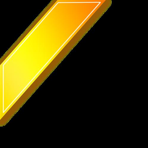金色渐变边框角标