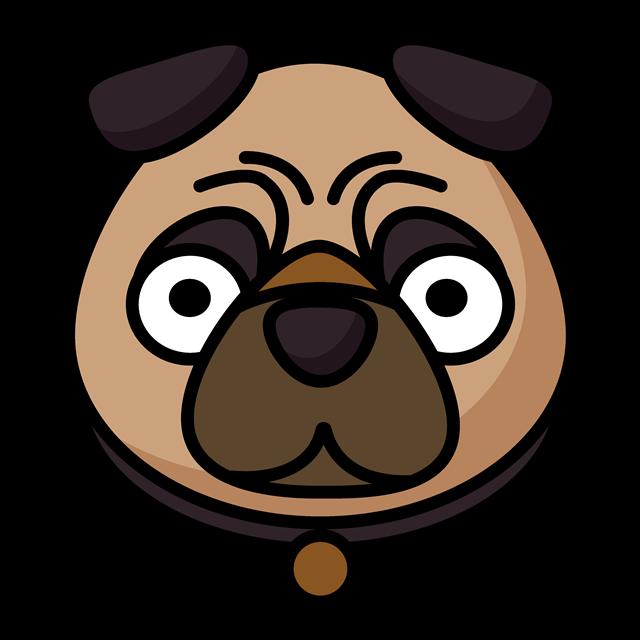 卡通斗牛犬头像图片
