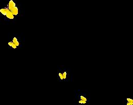 黄色蝴蝶漂浮素材