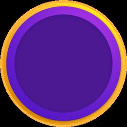 紫色圆形边框