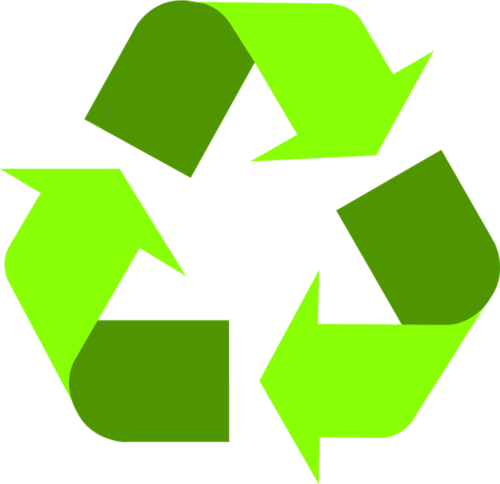 绿色回收循环图标