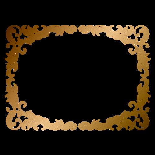 鎏金花纹边框装饰