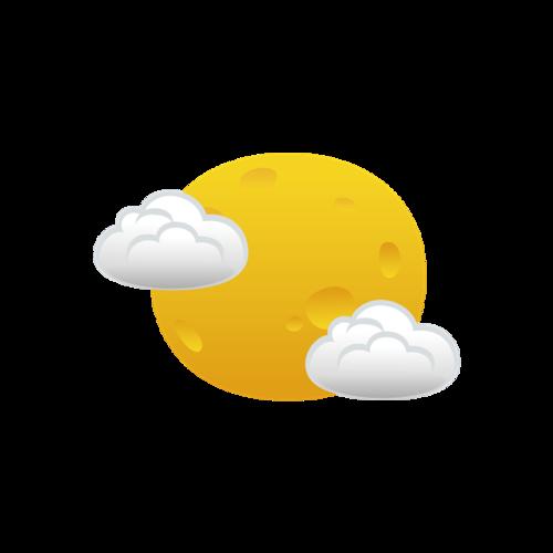 晴天天气符号图片