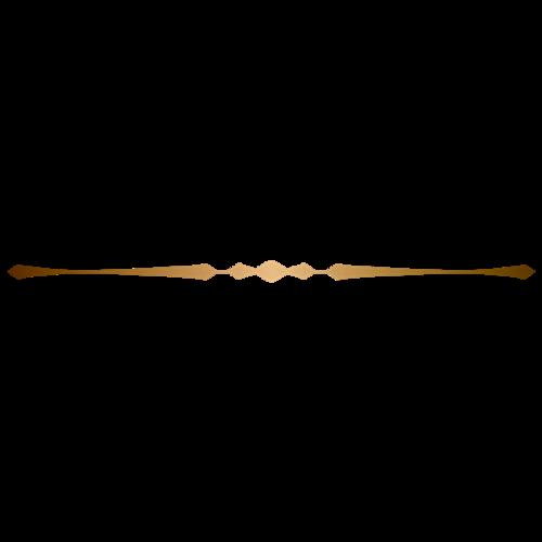 金色花纹分割线边框