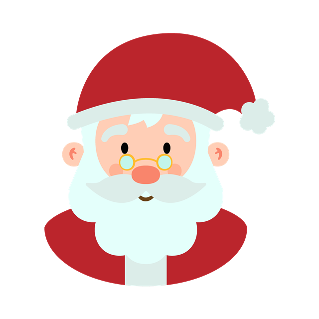 手绘可爱圣诞老人头像