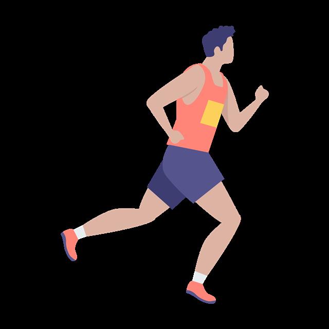 跑步运动员矢量图