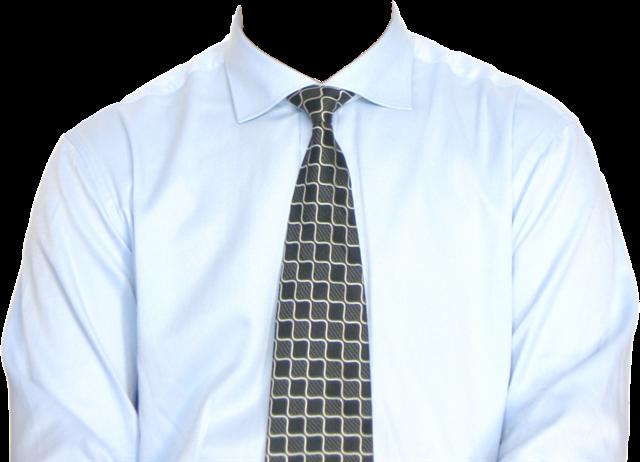 衬衫男士证件照模板