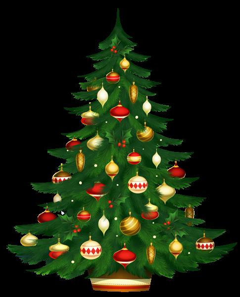 节日装饰圣诞树图片