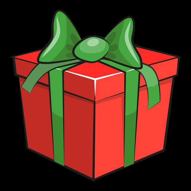 带蝴蝶结圣诞礼盒