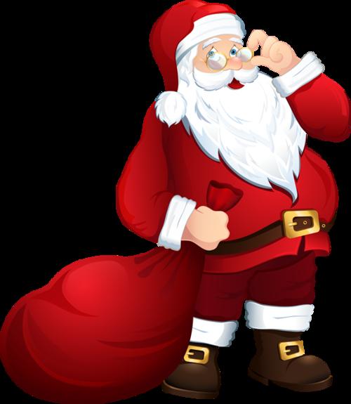 圣诞老人拖礼物包裹图片