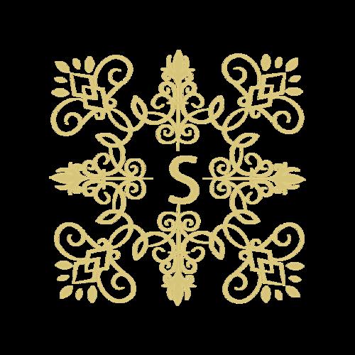 金色正方形装饰图案