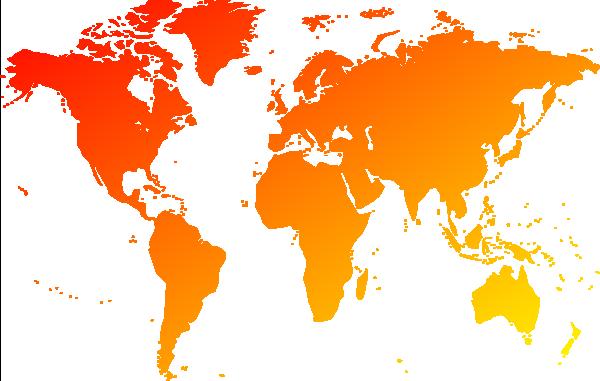 渐变世界地图图片