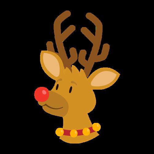 卡通圣诞麋鹿插画