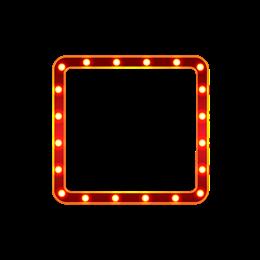 彩色方形边框