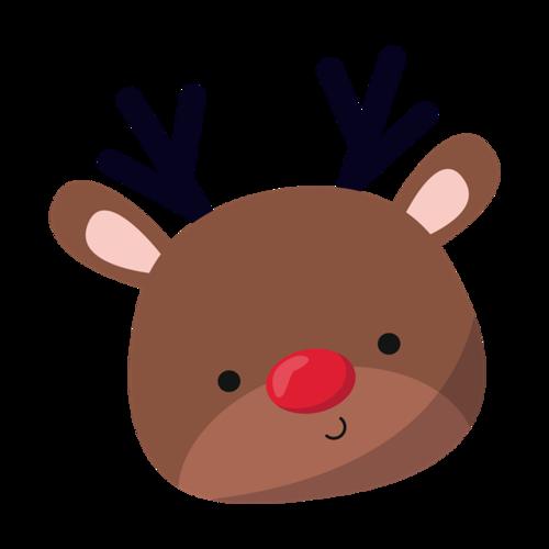 圣诞麋鹿卡通图片