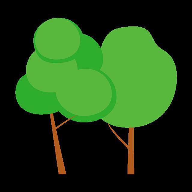 绿色卡通树木矢量图片