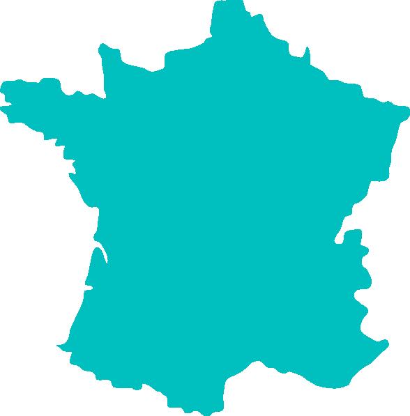 彩绘法国地图