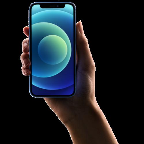 蓝色iPhone12手机样机